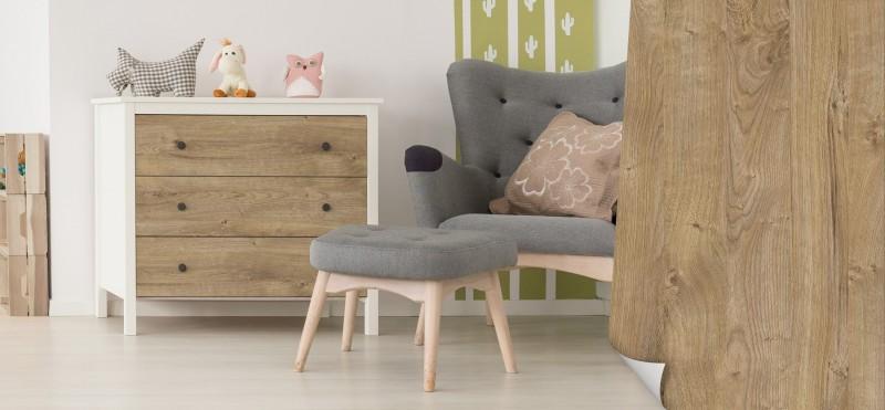 Möbelfolie mit heller Eichenholz Optik | jetzt bestellen ...