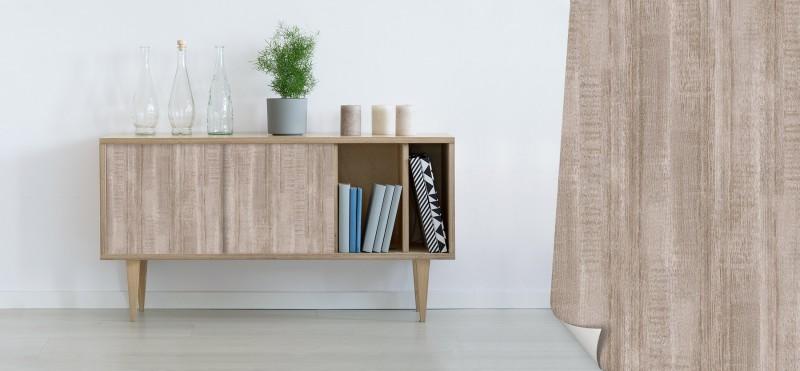 Einrichtungsbeispiel mit der Möbelfolie Vintage Pinie | jetzt bestellen PrintYourHome.de