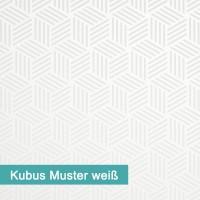 Möbelfolie Kubus Muster weiß - hochwertige papierbasierende Folie zum kinderleichten Verkleben von PrintYourHome.