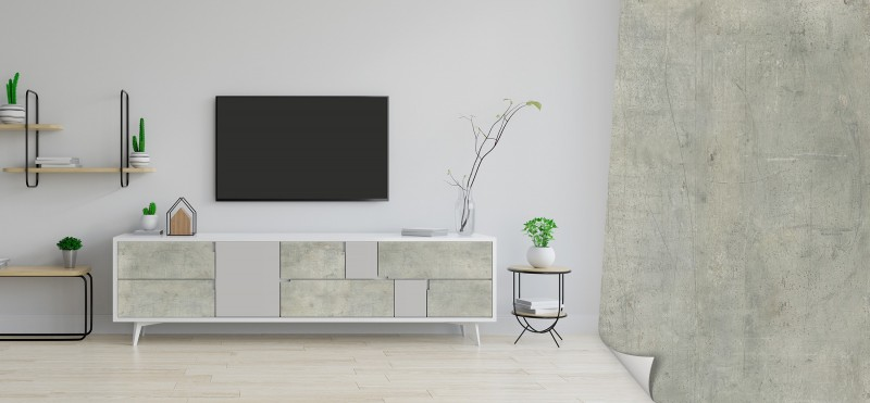 Möbelfolie im rustikal-industriellem Beton Chic | jetzt bestellen ...