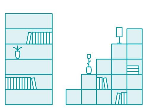 Anwendungsbeispiel Regale | Tecosmart Möbelfolien jetzt bestellen ...