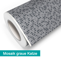 Klebefolie in Mosaik Graue Katze - günstig bei PrintYourHome.de