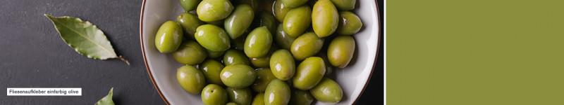 Fliesenaufkleber einfarbig olive - PrintYourHome.de