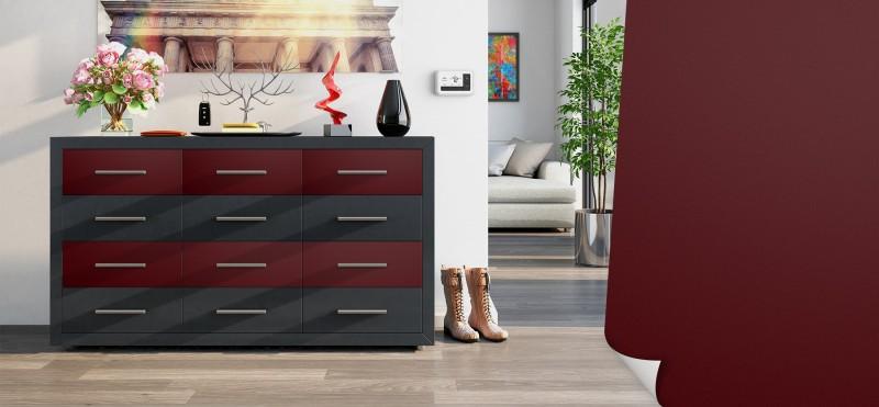 Möbelfolie mit der Farbe einer dunkelroten Kirsche | jetzt bestellen ...
