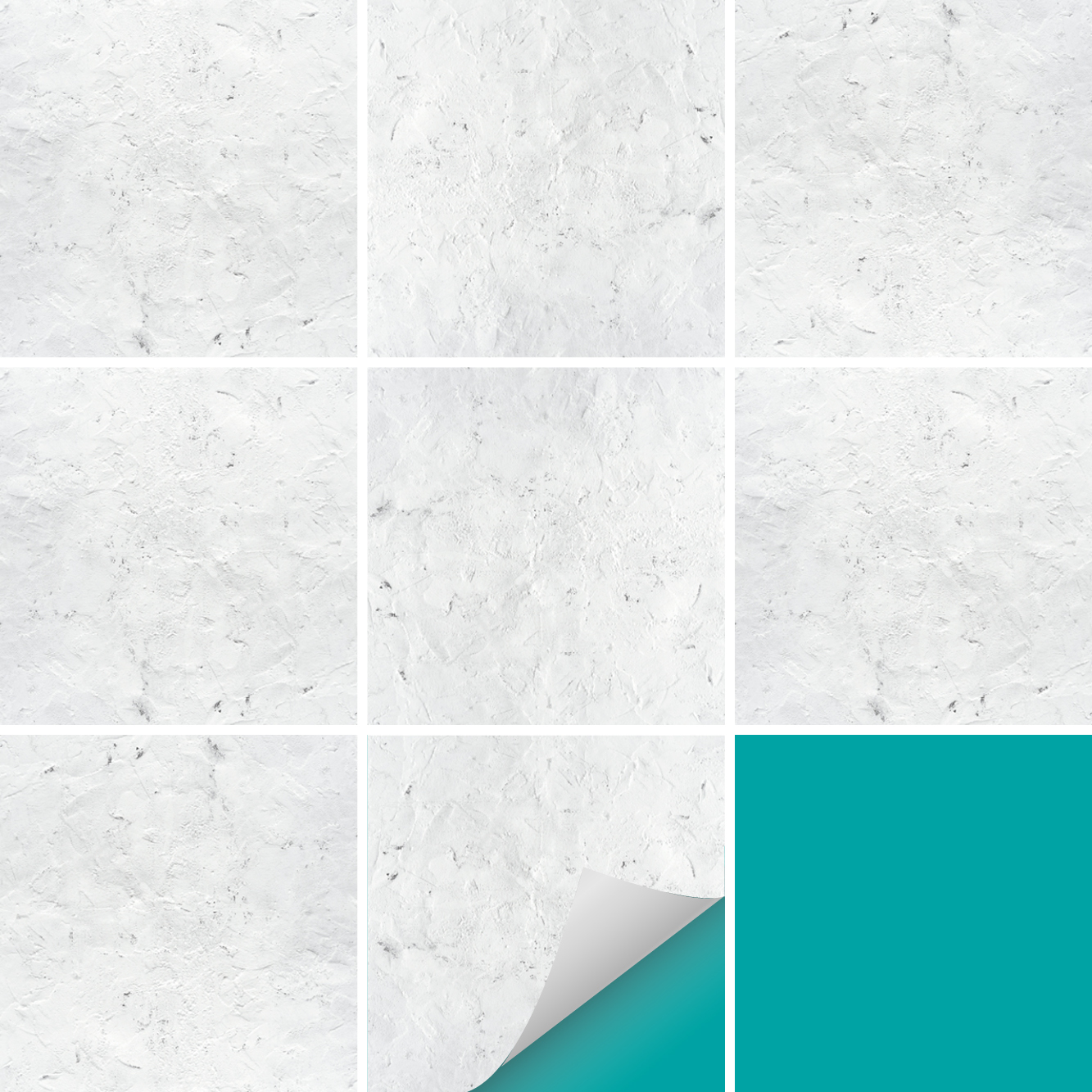 Gut bekannt Fliesenaufkleber Dekor Putz Grob Weiß | Küche & Bad | PrintYourHome PR93