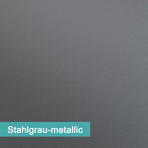 Möbelfolie Stahlgrau Metallic - hochwertige papierbasierende Folie zum kinderleichten Verkleben von PrintYourHome.