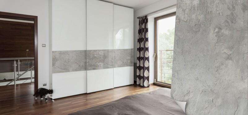 Einrichtungsbeispiel mit der Möbelfolie Schiefer hellgrau | jetzt bestellen PrintYourHome.de