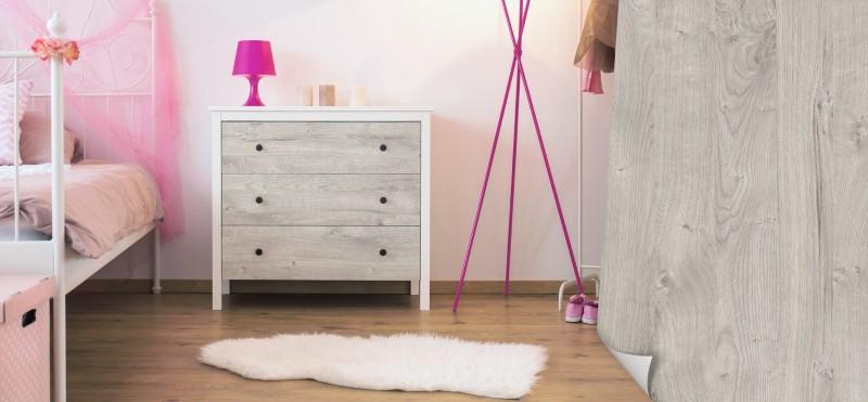 Möbelfolie mit gekalkter Holzoptik | jetzt bestellen ...