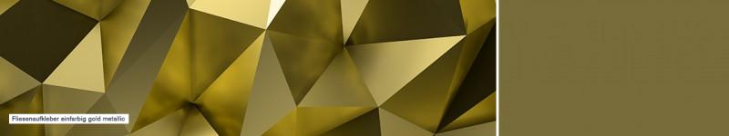 Fliesenaufkleber einfarbig gold metallic - PrintYourHome.de