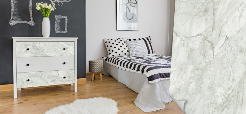 Möbelfolie in Marmor-Steinoptik | jetzt bestellen ...
