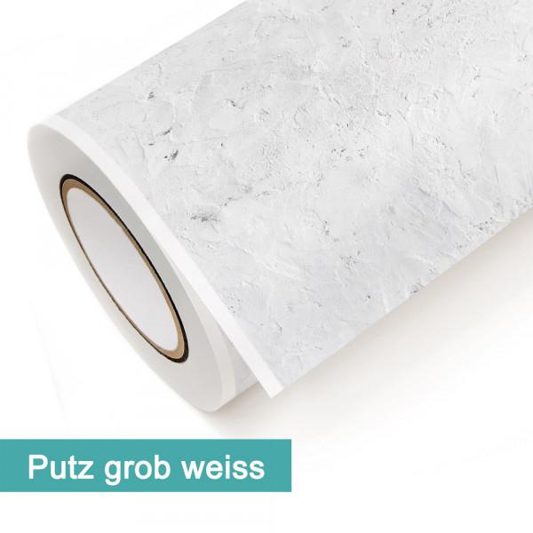 Klebefolie in Dekor Putz Grob Weiß - günstig bei PrintYourHome.de