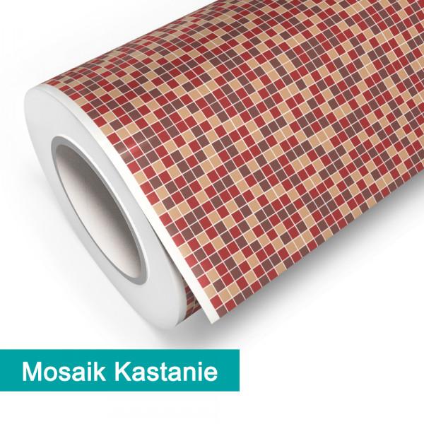 Klebefolie in Mosaik Kastanie - günstig bei PrintYourHome.de