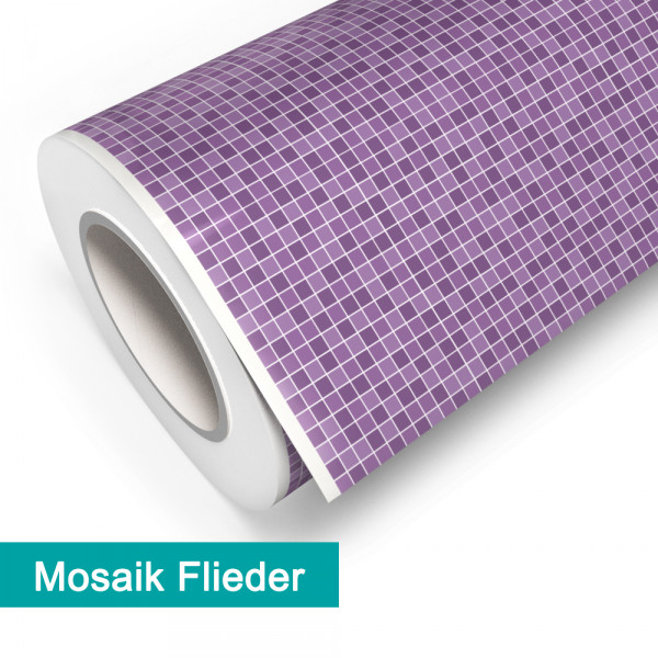 Klebefolie in Mosaik Flieder - günstig bei PrintYourHome.de