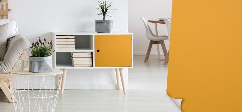 Möbelfolie mit orange-gelber Curry Farbe | gleich bestellen ...