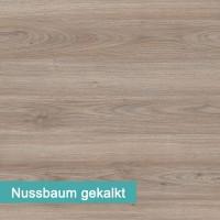 Möbelfolie Nussbaum gekalkt - hochwertige papierbasierende Folie zum kinderleichten Verkleben von PrintYourHome.