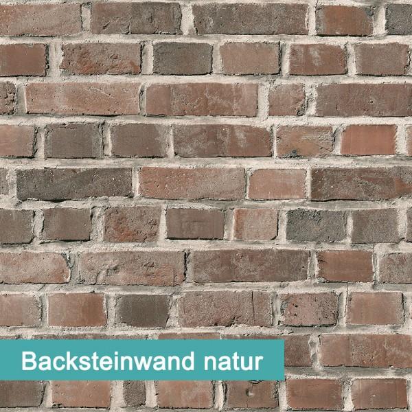 Möbelfolie Backsteinwand natur - hochwertige papierbasierende Folie zum kinderleichten Verkleben von PrintYourHome.