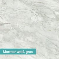 Möbelfolie Marmor weiß grau - hochwertige papierbasierende Folie zum kinderleichten Verkleben von PrintYourHome.
