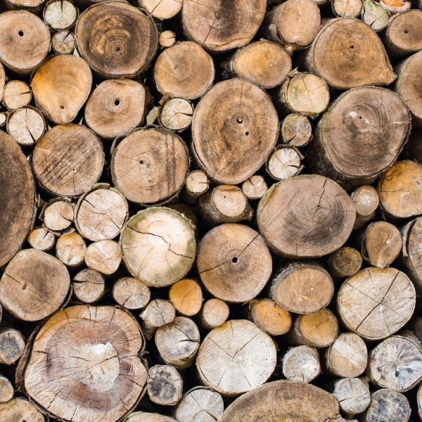 Fliesenaufkleber Dekor Holz Stapel Natur Braun bei PrintYourHome günstig bestellen.