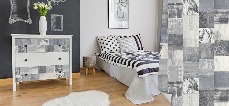 Möbelfolie mit rustikalem Vintage-Holz Design | jetzt bestellen...