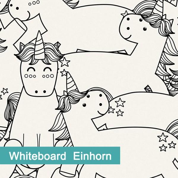 Möbelfolie Whiteboard Einhorn - hochwertige papierbasierende Folie zum kinderleichten Verkleben von PrintYourHome.
