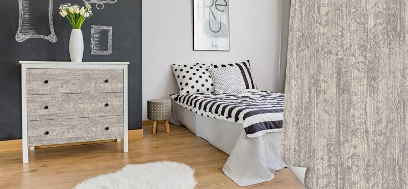 Möbelfolie im rustikalen Ethno-Holz-Look | jetzt bestellen ...