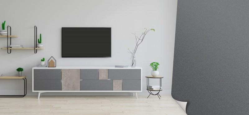 Möbelfolie in klassischem Stahlgrau | jetzt bestellen...