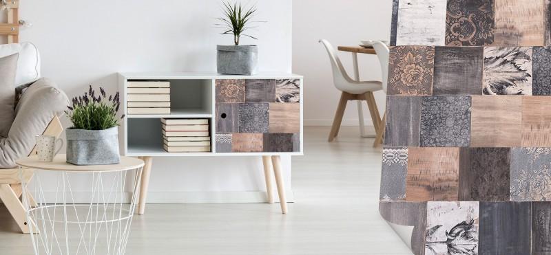 Möbelfolie Vintage Holz rot | PrintYourHome.de