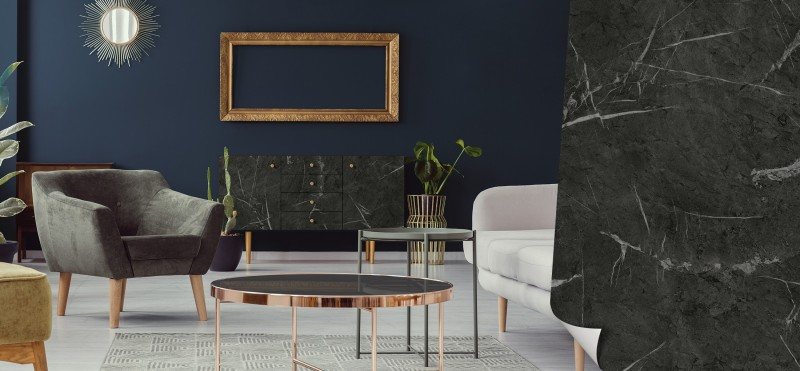 Möbelfolie mit luxoriösem Marmormuster | jetzt bestellen ...