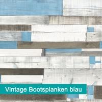 Möbelfolie Vintage Bootsplanken blau - hochwertige papierbasierende Folie zum kinderleichten Verkleben von PrintYourHome.