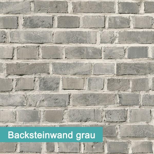 Möbelfolie Backsteinwand grau - hochwertige papierbasierende Folie zum kinderleichten Verkleben von PrintYourHome.