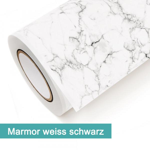 Klebefolie in Dekor Marmor Weiß Schwarz - günstig bei PrintYourHome.de