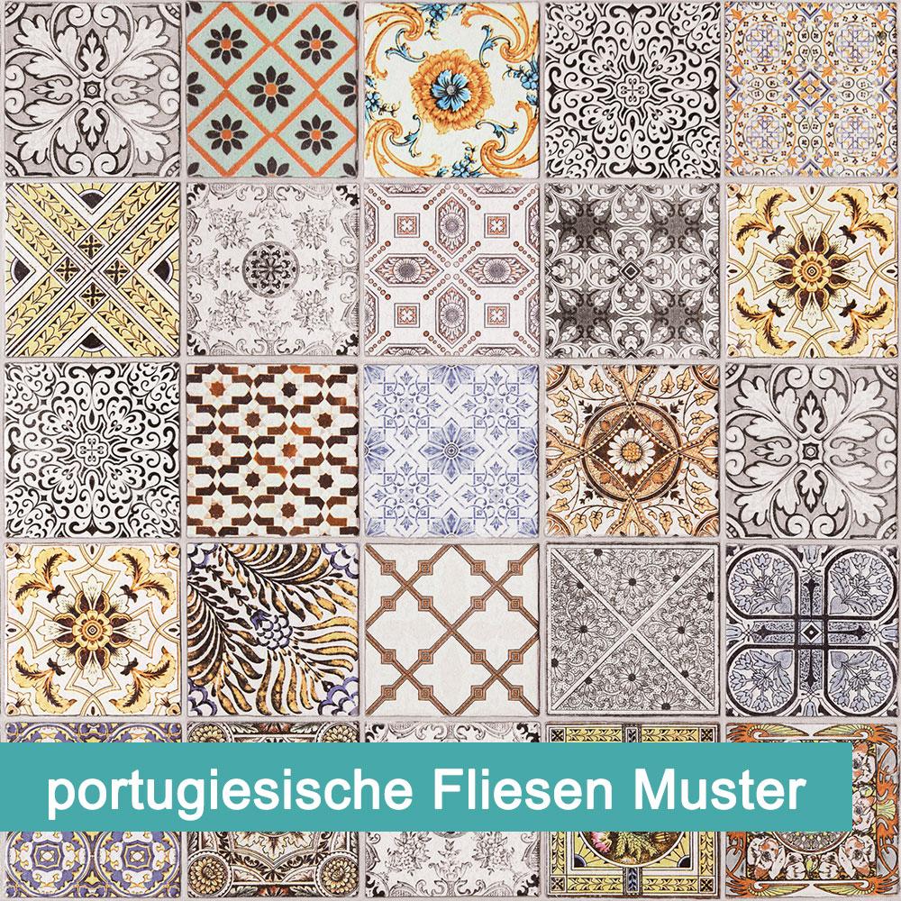 Möbelfolie portugiesische Fliesen Muster | kinderleichtes verkleben | bei  PrintYourHome.de