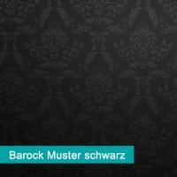 Möbelfolie Barock Muster schwarz - hochwertige papierbasierende Folie zum kinderleichten Verkleben von PrintYourHome.