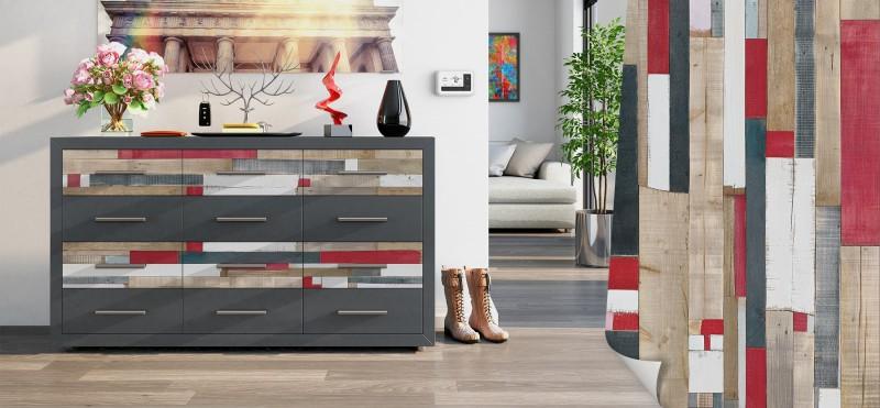 Möbelfolie mit modern-rustikalem Bootsplanken Muster | jetzt bestellen ...