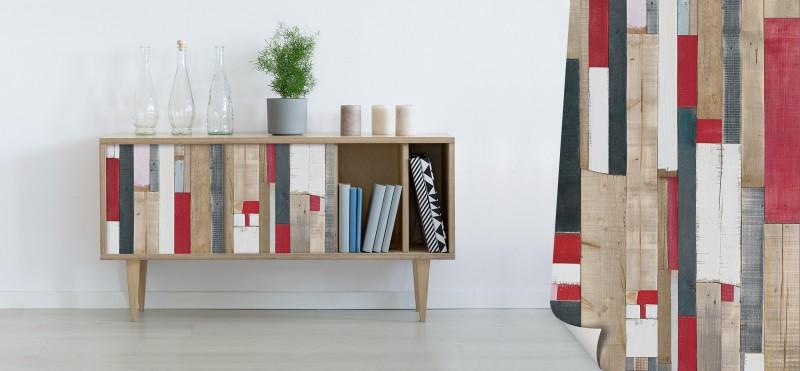 Möbelfolie mit rustikalen Bootsplanken | bestellen auf PrintYourHome.de