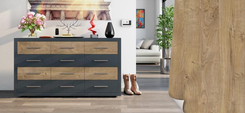 Möbelfolie mit modernem Natur-Eiche Look | jetzt bestellen...