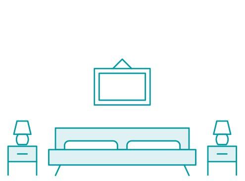 Anwendungsbeispiel Schlafzimmer | Tecosmart Folien jetzt bestellen bei PrintYourHome...