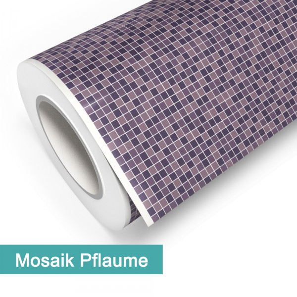 Klebefolie in Mosaik Pflaume - günstig bei PrintYourHome.de