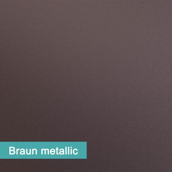 Möbelfolie Braun Metallic - hochwertige papierbasierende Folie zum kinderleichten Verkleben von PrintYourHome.