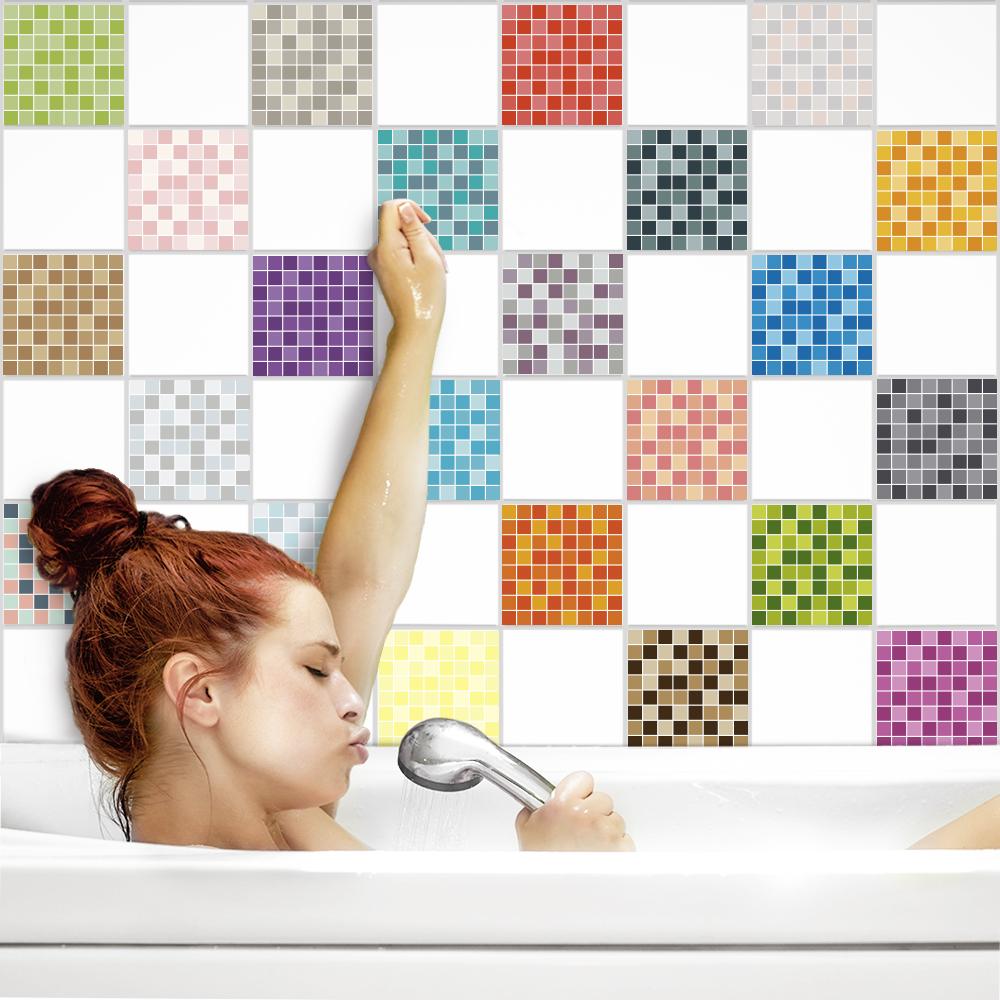 fliesenaufkleber mosaik beige k che bad bei printyourhome. Black Bedroom Furniture Sets. Home Design Ideas