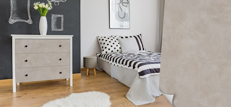 Möbelfolie im gemütlichen Beton-Landhausstil | jetzt bestellen ...