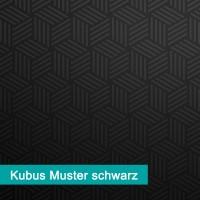 Möbelfolie Kubus Muster schwarz - hochwertige papierbasierende Folie zum kinderleichten Verkleben von PrintYourHome.