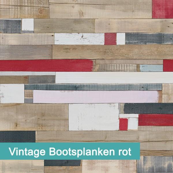 Möbelfolie Vintage Bootsplanken rot - hochwertige papierbasierende Folie zum kinderleichten Verkleben von PrintYourHome.