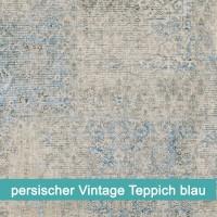 Möbelfolie persischer Vintage Teppich blau - hochwertige papierbasierende Folie zum kinderleichten Verkleben von PrintYourHome.