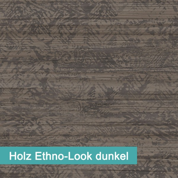 Möbelfolie Holz Ethno-Look dunkel - hochwertige papierbasierende Folie zum kinderleichten Verkleben von PrintYourHome.