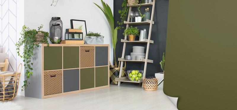 Möbelfolie mit einem natürlichem Avocado-grün | jetzt bestellen ...